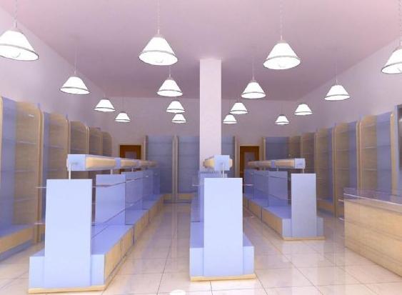 3,装饰照明:指店内照明设计与店铺整体形象协调一致,要避免明亮灯光